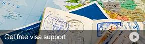 Get free visa support